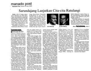 Sarundajang melanjutkan Cita-cita Ratu Langie