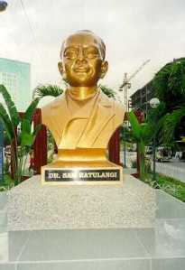 Bust of SAM RATULANGIE at Davao City