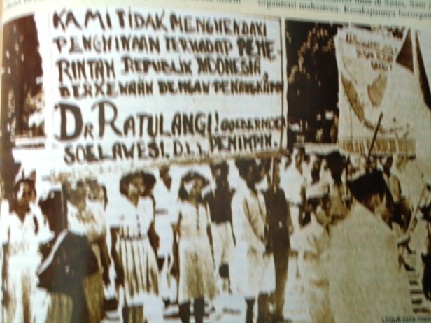 Protest in Yogyakarta by young Sulawesians