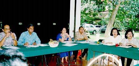Bp. Sugandi, Bp. Alex Latumahina, Milly Ichwan-Ratulangie, Bp. Sudjoko, Elna Saleh dan Kathy Papare