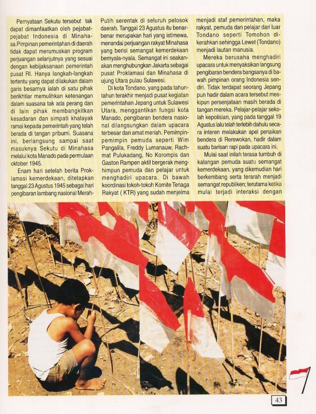 Pengibaran Serentak Merah Putih di SULUT (2)