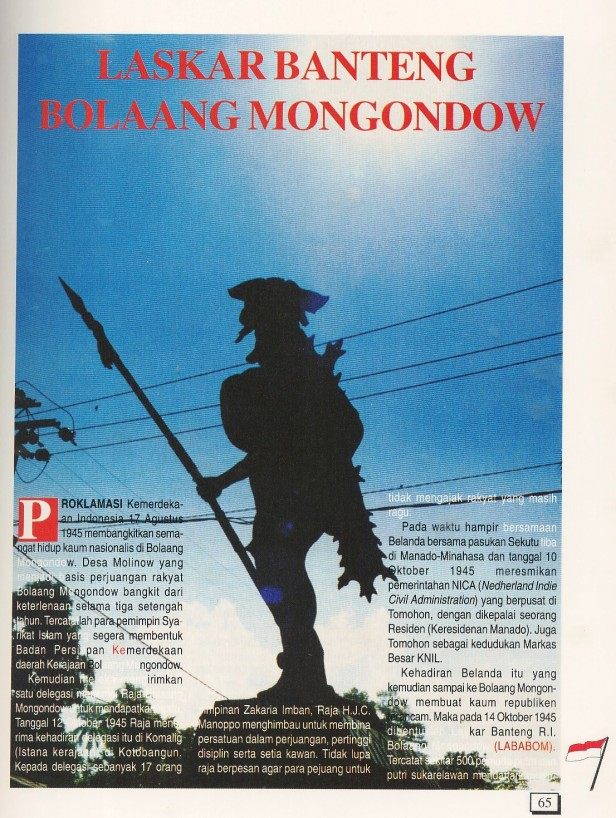 Laskar Banteng Bolaang Monondow (1)