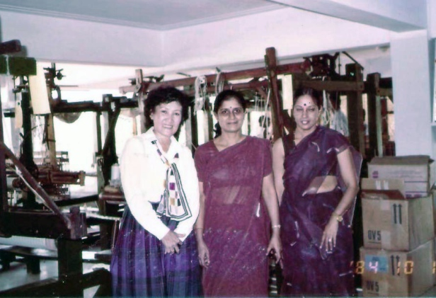 Three Asian Ladies in Textile Science