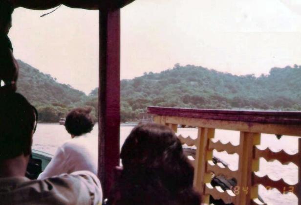 On the boat to Elephanta