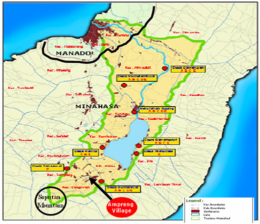 Map-of-Tondano-Lake-Watershed