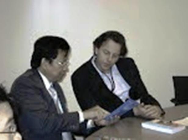 Batara R. Hutagalung with Bert Koenders